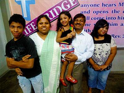 Pastor Michael Jha and family