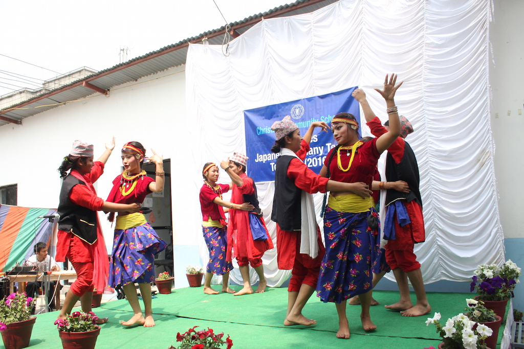traditional Nepali dances at Welcome Ceremony and Party for Japanese at CCS (Christian Community School) (3) kopia